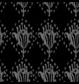 ikat seamless bohemian ethnic grey pattern vector image vector image