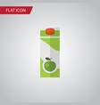 isolated apple juice flat icon packet beverage vector image