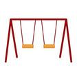 isolated playground swing equipment vector image