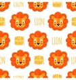 Lion face on a white background isolated vector image vector image