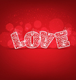 Love for valentines vector image vector image