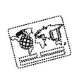 map sticker vector image vector image