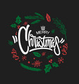 merry christmas lettering design graphic vector image vector image