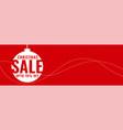 minimal christmas festival sale red banner vector image