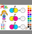 mix colors educational game for children vector image vector image