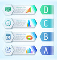 modern infographic business horizontal banners vector image vector image