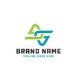 monogram logo letter initials ga vector image