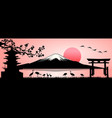 mount fuji landscape vector image