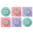 outlined icon volleyball with parallel and not vector image