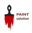 paint brush logo icon simle flat design stock vector image vector image