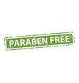 paraben free stamp texture rubber cliche imprint vector image vector image
