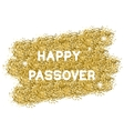 Passover gold background vector image vector image