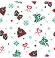pattern knitted hats and mittens vector image vector image
