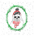 portrait of santa claus santa claus cartoon skull vector image