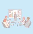presentation business congratulation hiring vector image
