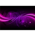 purple abstract background with wave vector image vector image
