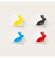 realistic design element easter rabbit vector image vector image