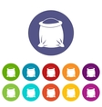 Sack full of flour set icons vector image vector image