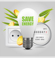 save energy concept for poster banner vector image vector image