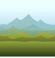 seamless horizon border with mountains vector image vector image
