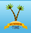 summer time with palms vector image vector image