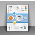 template booklet with elements infographics vector image