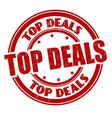 top deals grunge rubber stamp vector image vector image