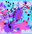 turquoise purple pink black ink splashes vector image vector image