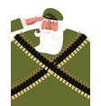 veteran with gray beard grandpa soldiers old vector image