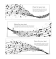 wavy music banners vector image vector image