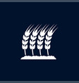 wheat icon simple gardening element symbol vector image