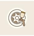 Wheel paints icon vector image vector image
