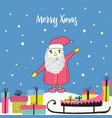 winter holiday design doodle clipart vector image vector image
