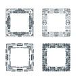 ethnic design decorative geometric frames set vector image