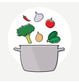 Food Ingredient and Pot vector image