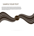 Abstract black chocolate background brown vector image