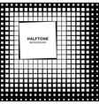 Abstract Halftone Square Background vector image vector image
