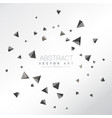 abstract particles shatter of 3d triangles shapes vector image vector image