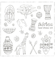 Africa sketch icons set vector image vector image