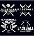 baseball labels badges logos set national vector image