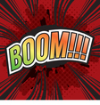 BOOM Wording Sound Effect for Comic Speech Bubble vector image vector image