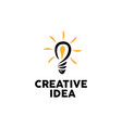 bulb creative logo design inspiration vector image vector image