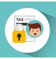 business man secure tax money vector image vector image