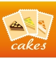 cake stamps vector image vector image