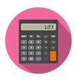 Calculator image in flat style vector image