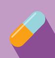 Capsule Medicine Icon vector image