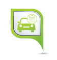 car wash icon on green pointer vector image vector image