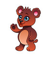 cartoon bear isolated vector image vector image