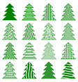 christmas fir trees vector image vector image