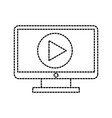 computer monitor technology movie video film media vector image